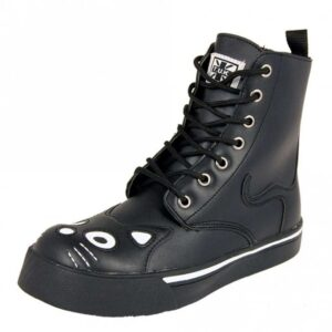 TUK Shoes Black Kitty Combat Boot Sneaker Small