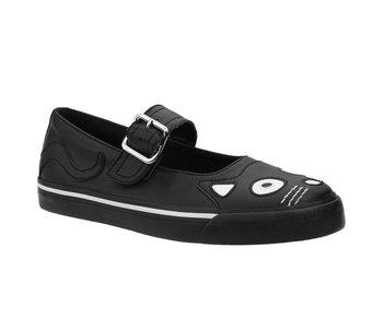 TUK Shoes Black Kitty Mary Jane Sneaker Medium