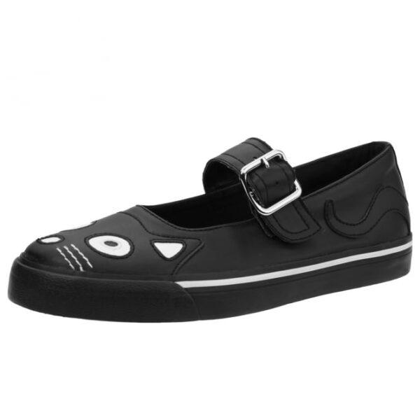 TUK Shoes Black Kitty Mary Jane Sneaker Small
