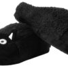 TUK-Slippers-Black-Fuzzy-Fur-Kitty-Small