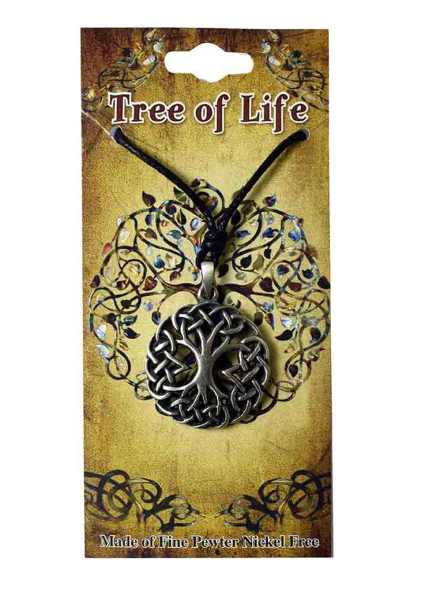 Pewter Pendant Tree Of Life Thick