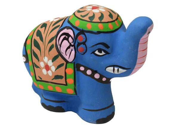 Incense Stick Holder Elephant Blue