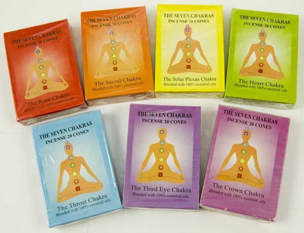 Seven Chakra Incense Cones