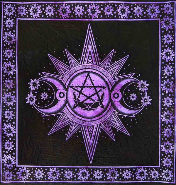Altar Cloth Sun Moon Pentagon