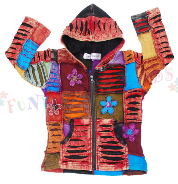 Children's Patchwork Hooded Jacket