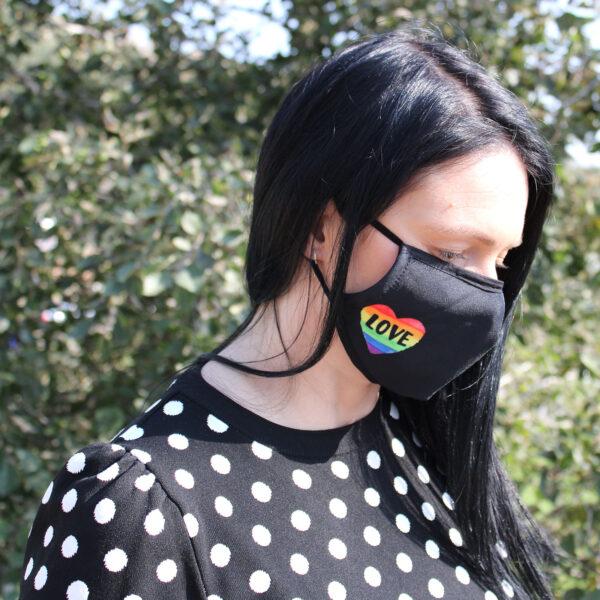 Face Mask Hippy Rainbow Love Is Love