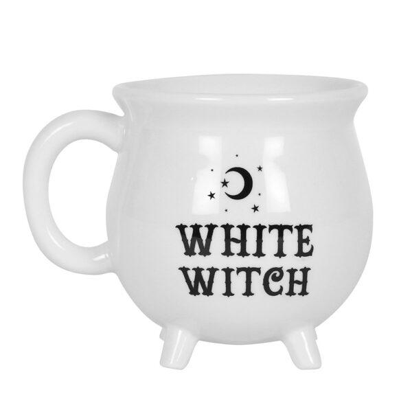 Gift Mug White Witch Cauldron Moon