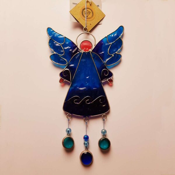 Angel Suncatcher in Blue