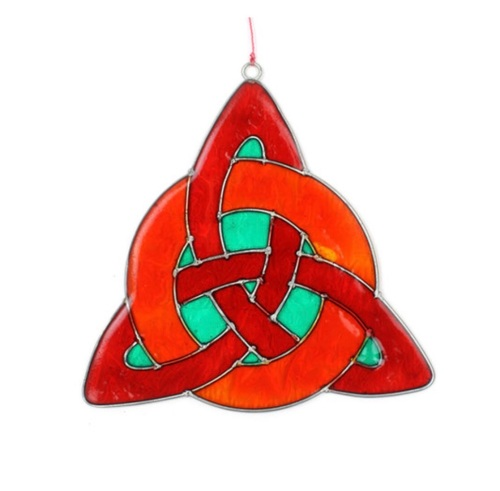 Celtic Knot Suncatcher Red Green