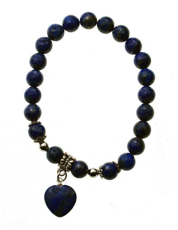 Charm Bracelet Lapis Lazuli Heart