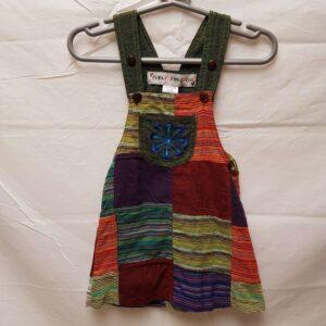 Childrens Flower Dungaree Dress