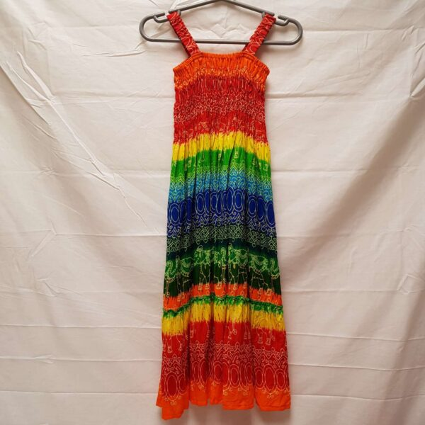 Childrens Rainbow Dress Red