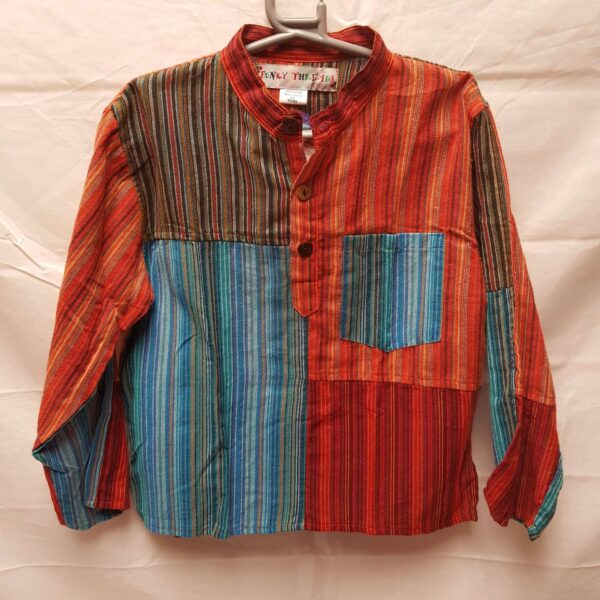 Childrens Striped Patchwork Shirt