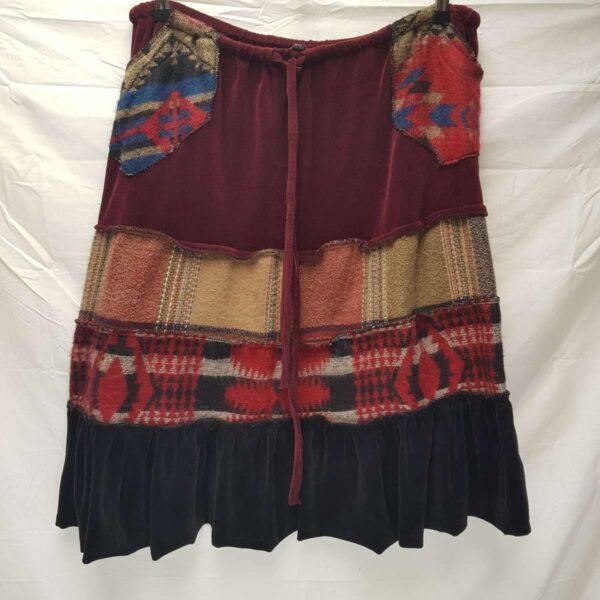 Cute Cosy Burgundy Skirt
