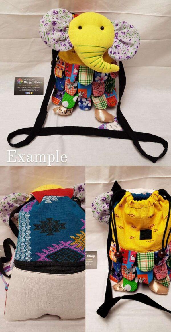 Elephant Bag Yellow Purple