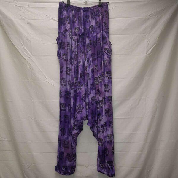 Elephant Print Harems Purple