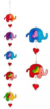 Elephant String Suncatcher Hearts