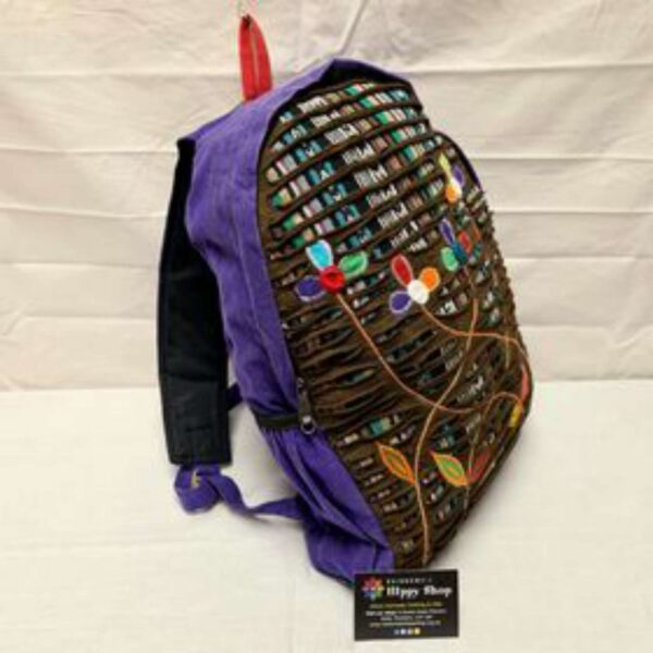 Flower Backpack Rucksack Purple