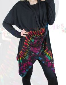 Funky Tie Dye Long Sleeved Top Rainbow