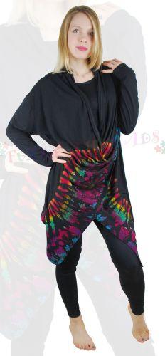Funky Tie Dye Long Sleeved Top Rainbow