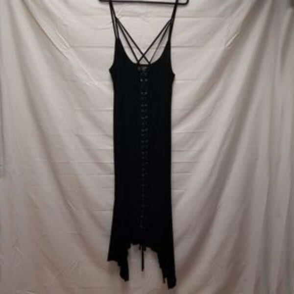 Gothic Corset Style Dress Black
