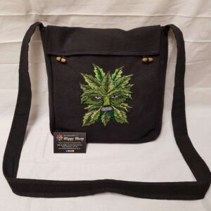 Green Man Messenger Bag Black