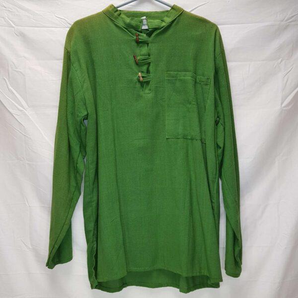 Green Shirt Long Sleeved