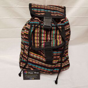 Hippy Rucksack Bag Black Line