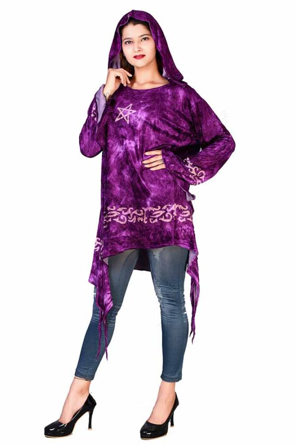 Jordash Purple pagan velvet top