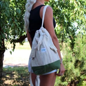 Laptop Backpack Bag Hemp Cotton