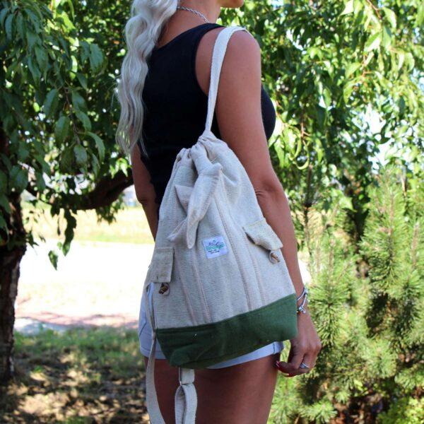 Laptop Backpack Bag Hemp Cotton