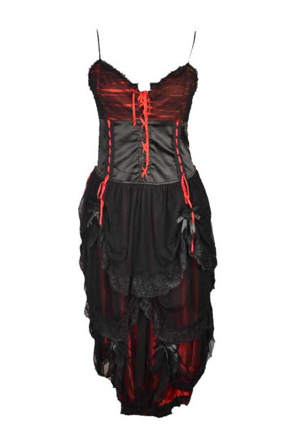 Long Length Layered Gothic Dress
