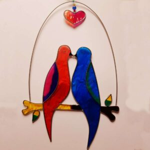 Love Birds on a Branch Suncatcher