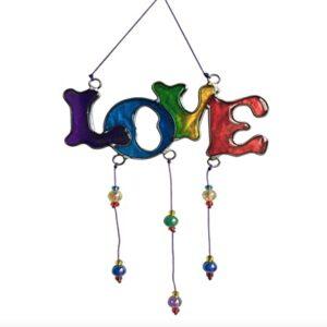 Love Rainbow Suncatcher