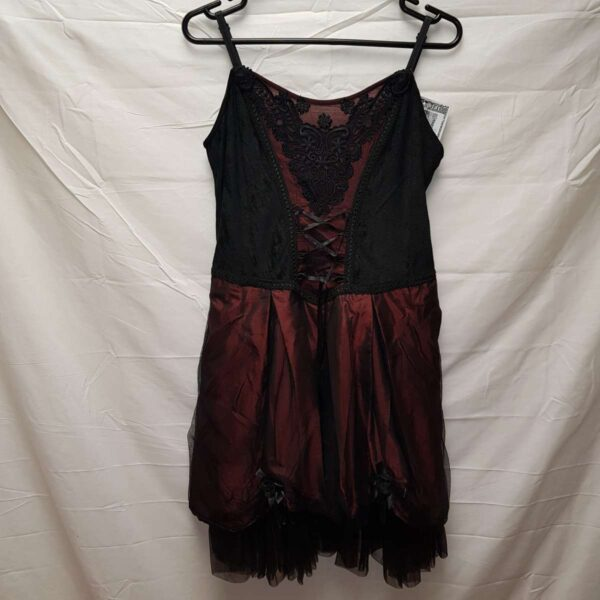 Mid Length Gothic Red Dress