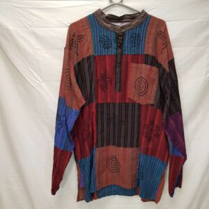 Patchwork Shirt Red