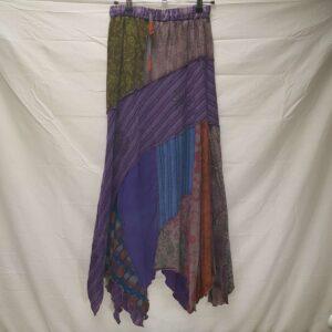 Patchwork Skirt Purple