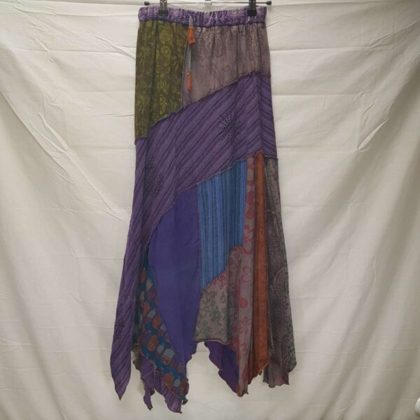 Patchwork Skirt Purple
