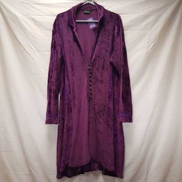 Purple Velvet Gown