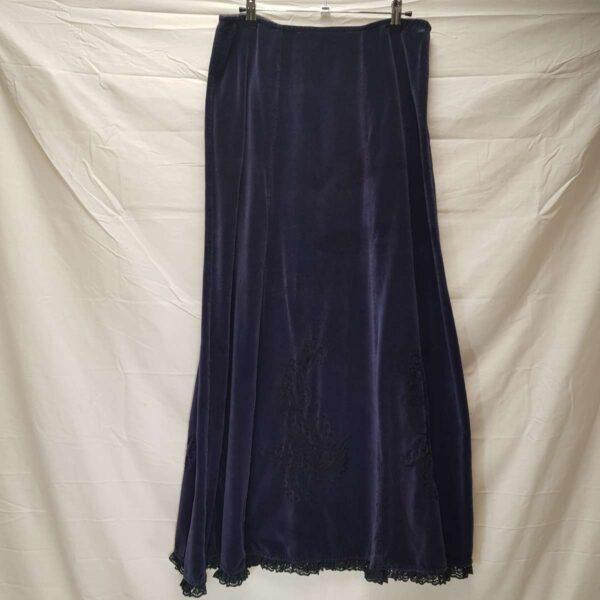 Purple Velvet Skirt