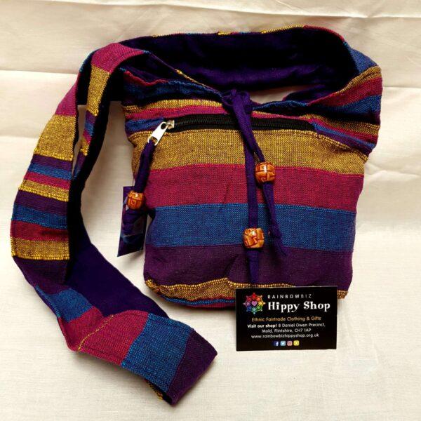 Small Striped Bag Purple