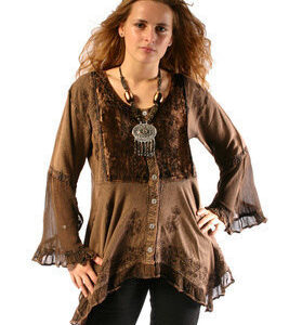 Smock Top Brown