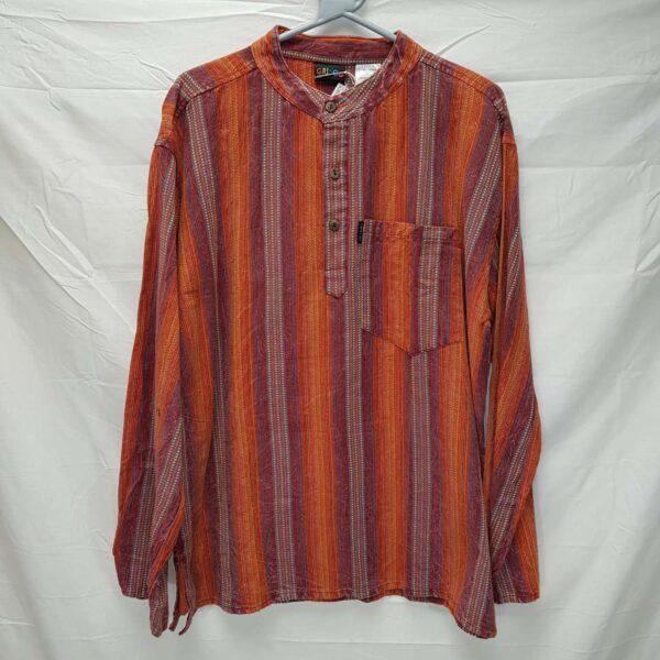 Thick Striped Shirt Orange