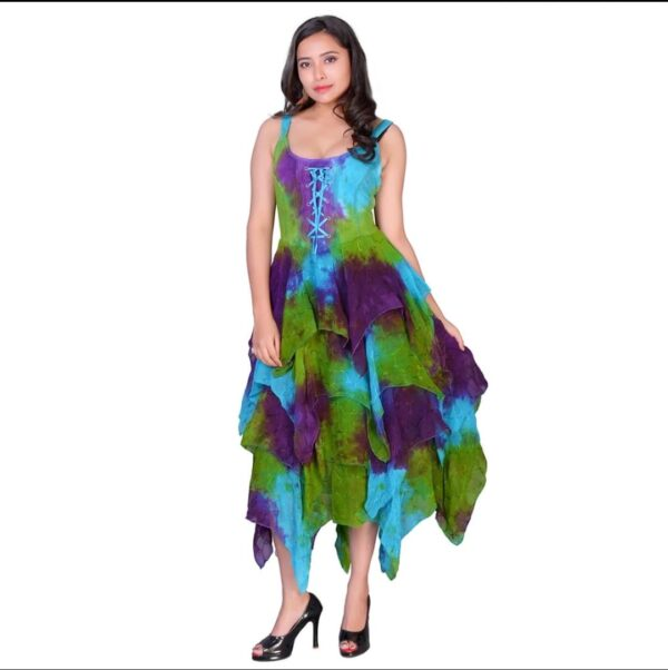 Tie Dye Layered Gown