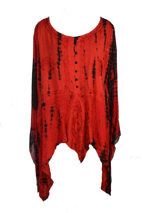 Tie Dye Long Sleeve Blouse