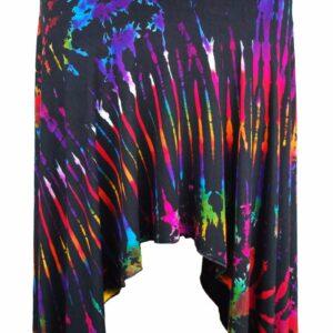 Tie Dye Pixie Skirt Black Rainbow