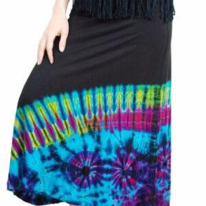Tie Dye Skirt Blue