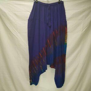 Tie Dye Stripe Harems Blue