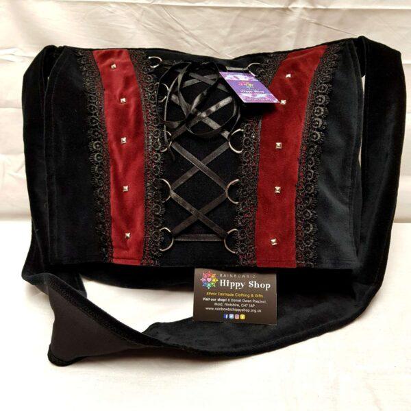 Velvet Corset Bag Burgundy