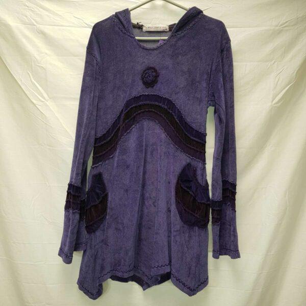 Winter Velvet Pixie Dress Purple